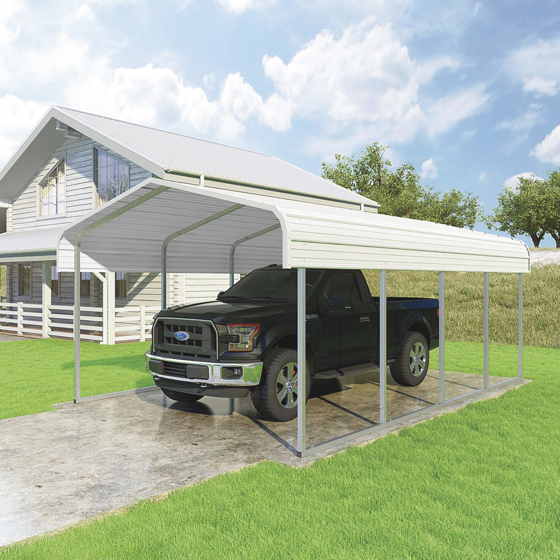 Metal Carports | Northern Tool + Equipment Metal Carport Canopy For Sale