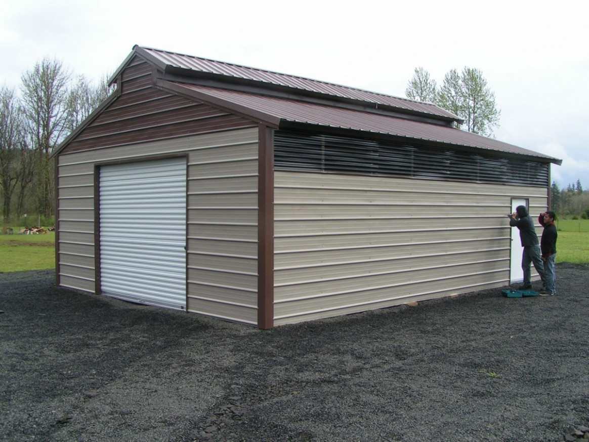 Metal Enclosed Carports | Coast To Coast Carports, Inc Garage Doors On Carports