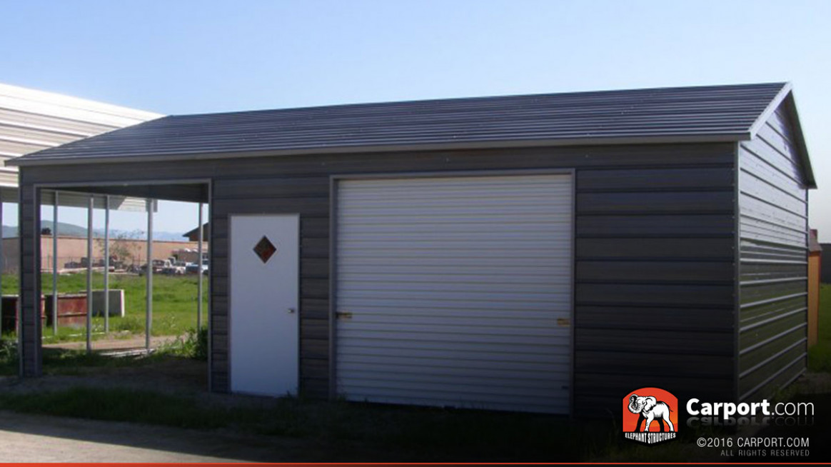 Metal Garage With Two Sections 12′ X 12′ Shop Metal, Double ..