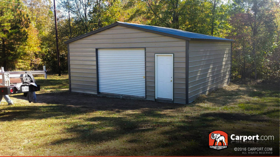 Metal Garages | Order A Steel Garage And Metal Garage Kits Carport Built In Front Of Garage