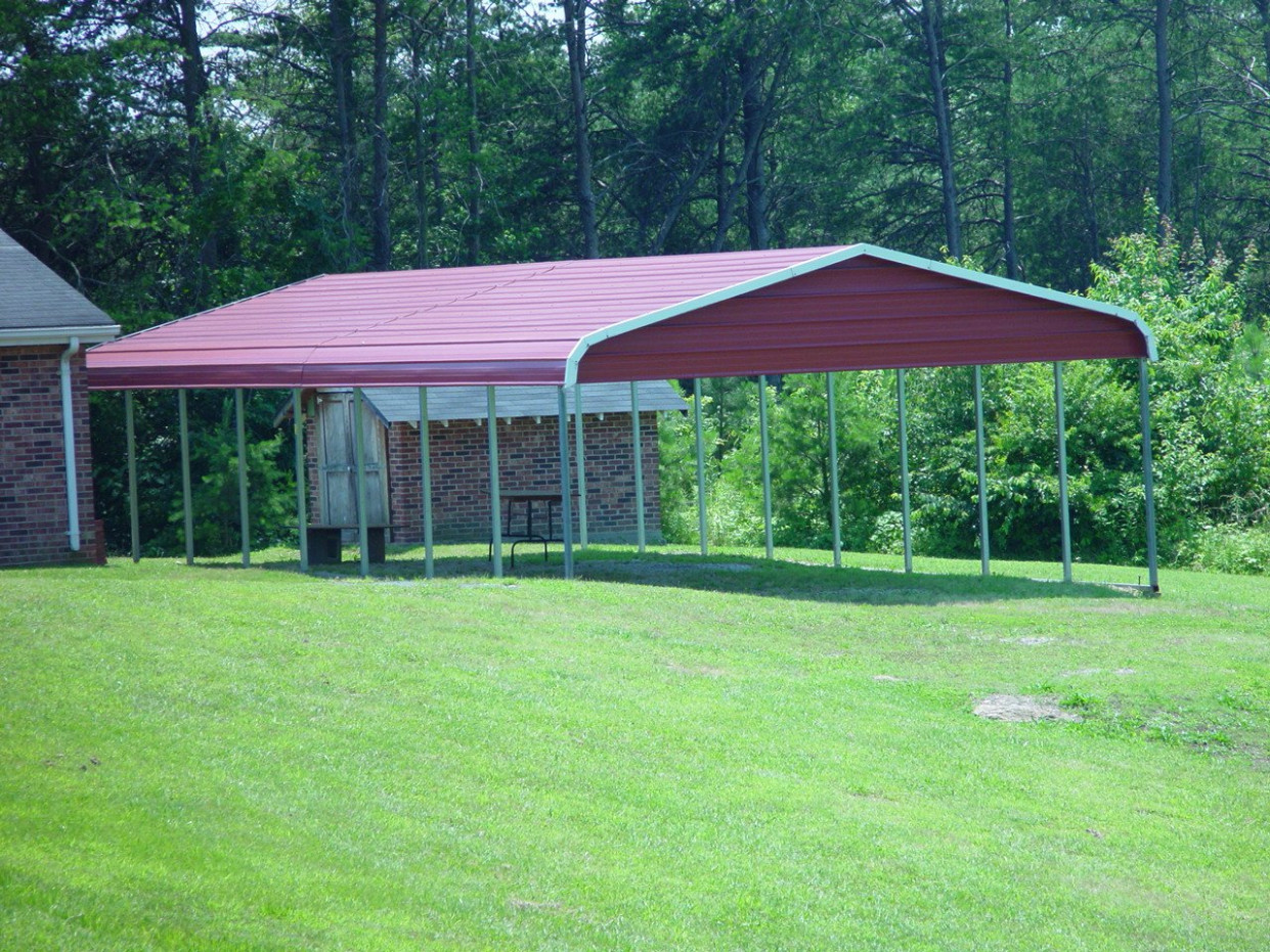 Metal Roof Carports Example Enclosing A Metal Carport With Wood