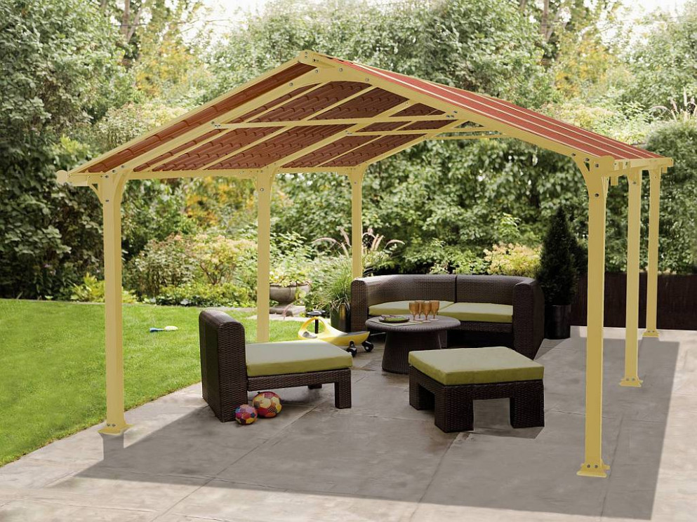 Metal Roof: Outdoor Metal Roof Gazebo, Covered Patio Ideas ..