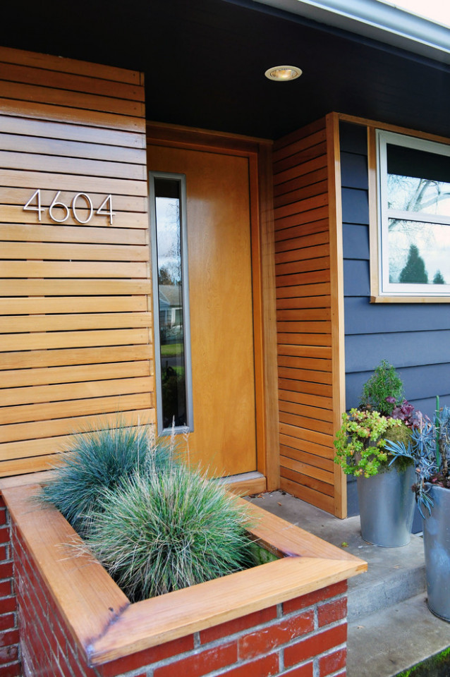 Mid Century Modern House Numbers Exterior Midcentury With ..