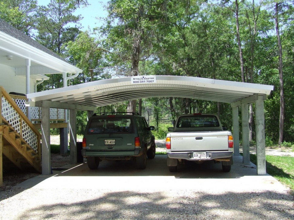 Minimalist White Nuance Of The Metal Carport Plans Can Be ..