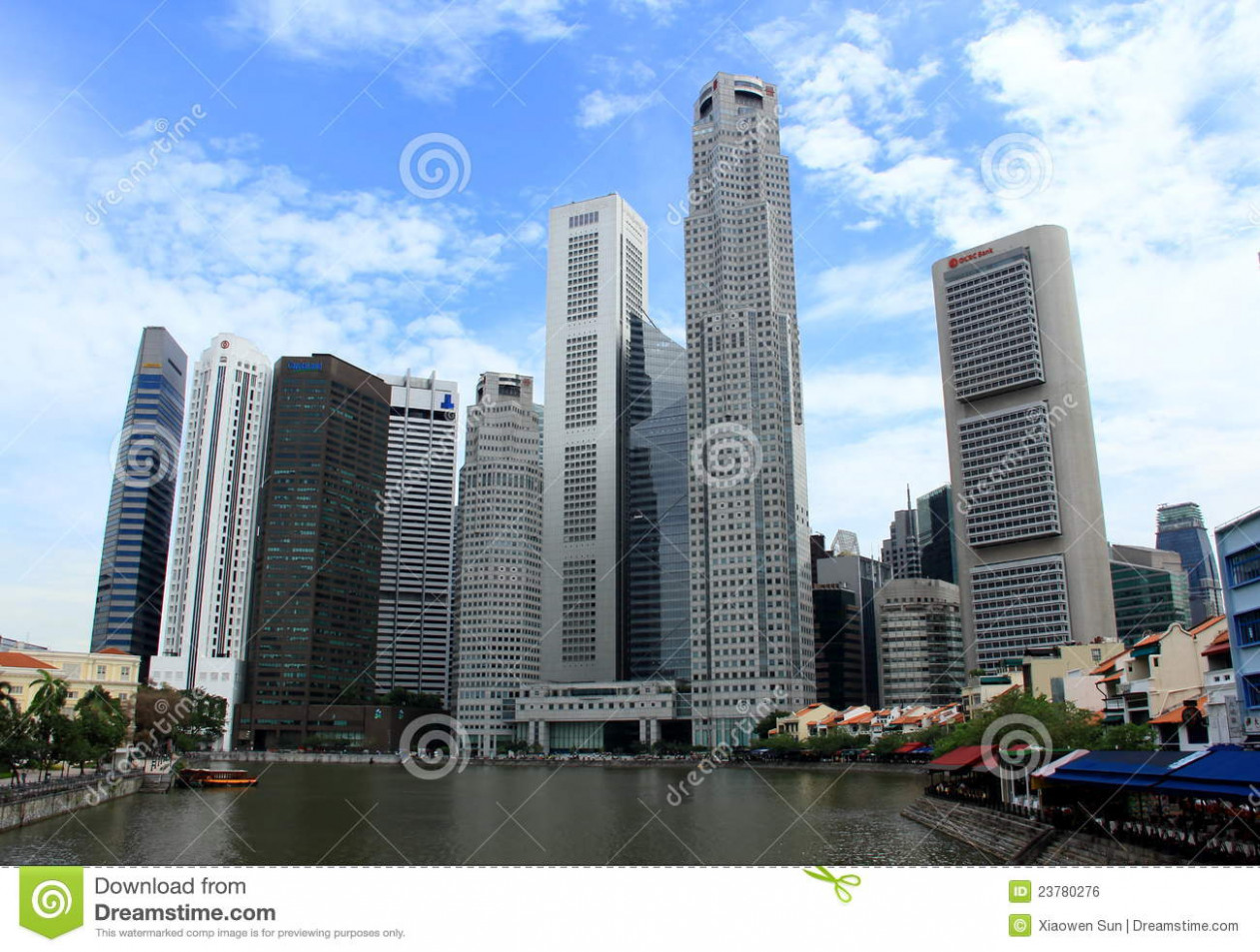 Modern Buildings At Singapore River Side Editorial Photo ..