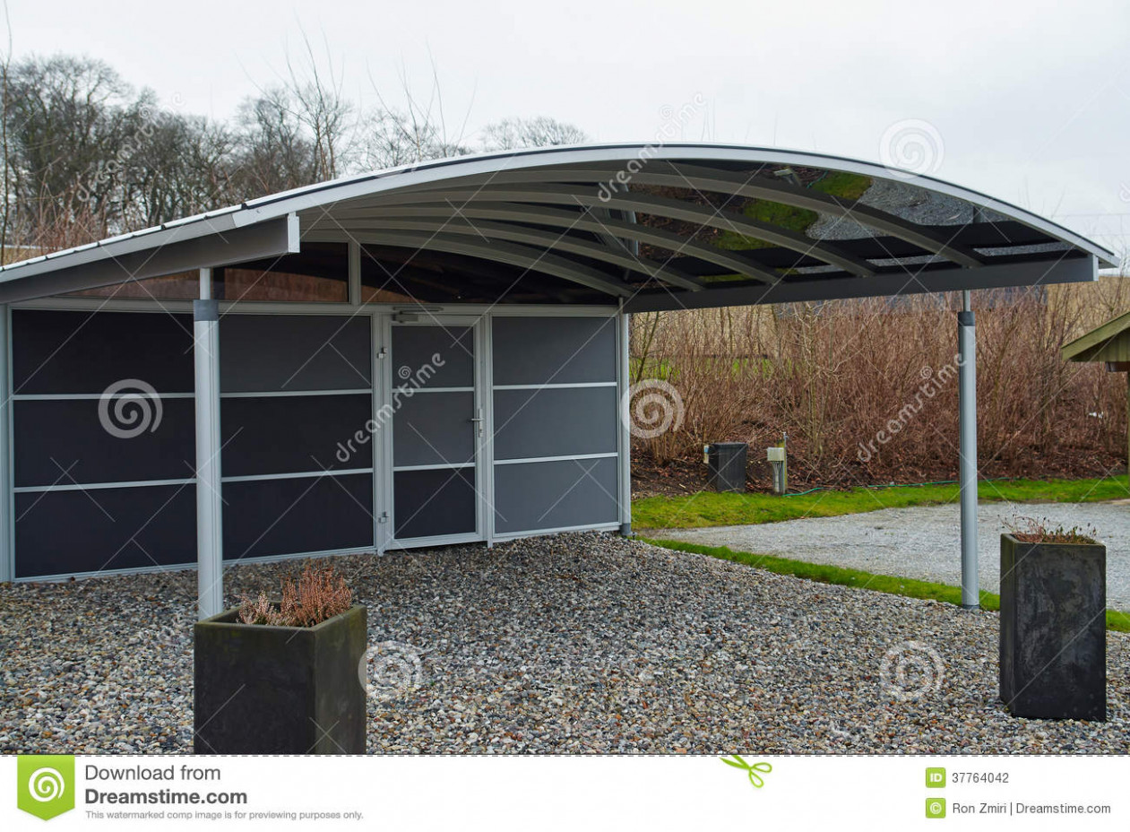 Modern Carport Car Garage Parking Stock Photo Image Of ..