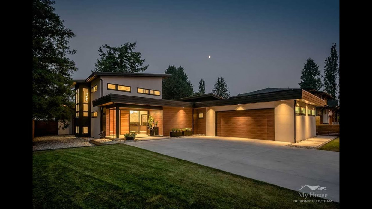 Modern Custom Home Builder Vancouver | Fort Langley Modern Blend Contemporary House With Carport