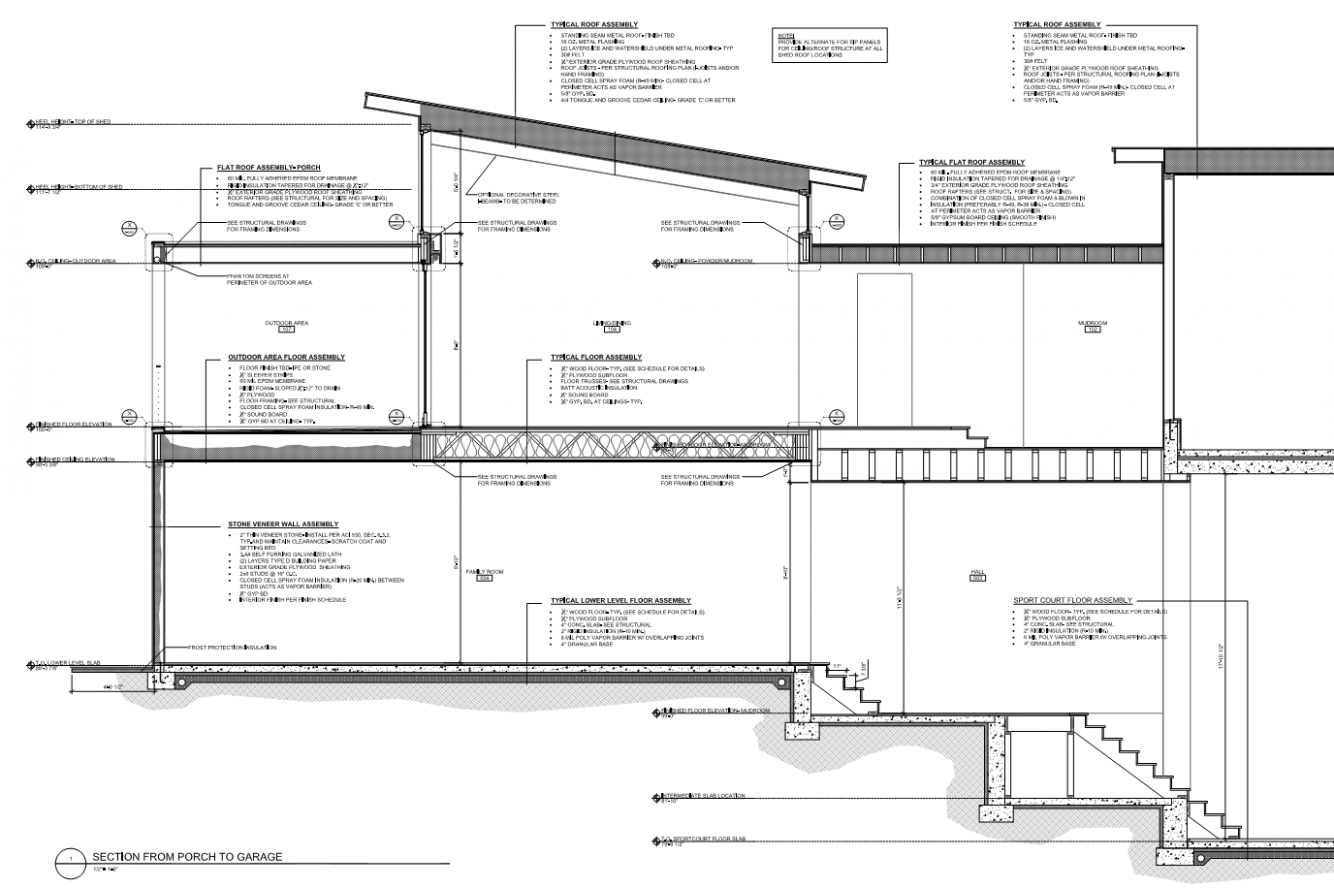 Modern Flat/Shed Roof With Windows   SoftPlanTuts Carport Flat Roof Plans
