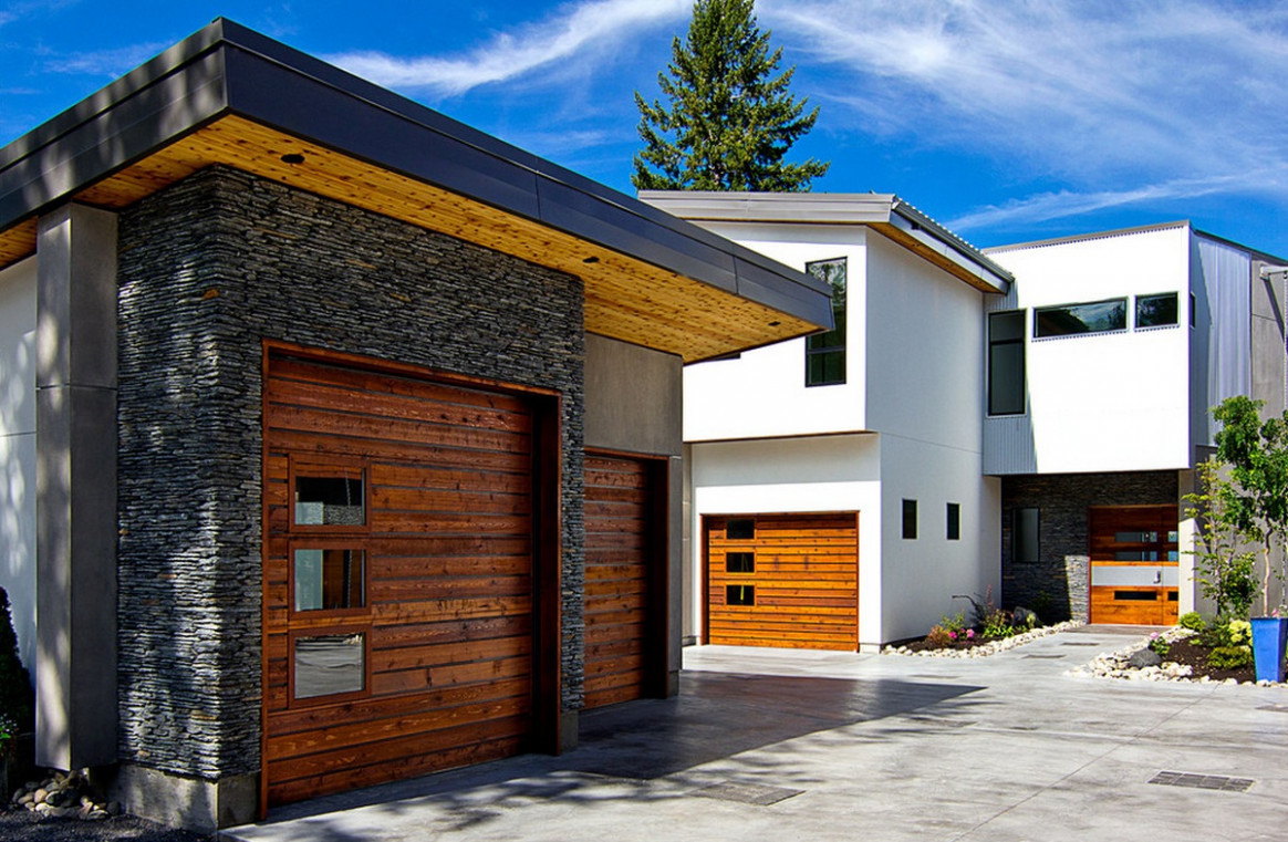Modern Garage Doors For Your Home | At HOME Victoria Carport Contemporary Room