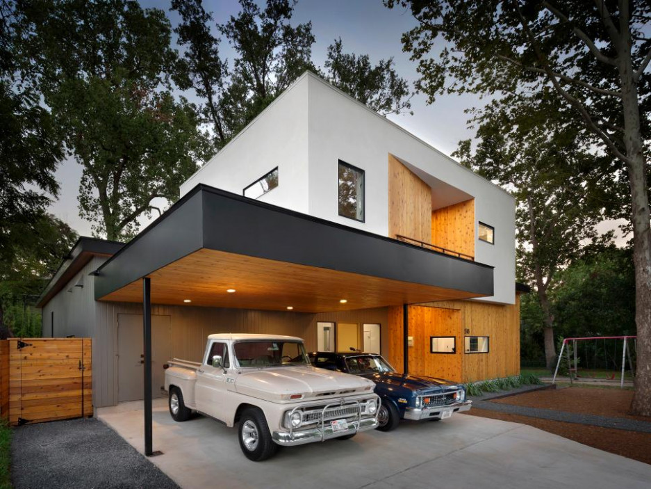 Modern Home With Carport Built Around Live Oak Tree | Matt ..