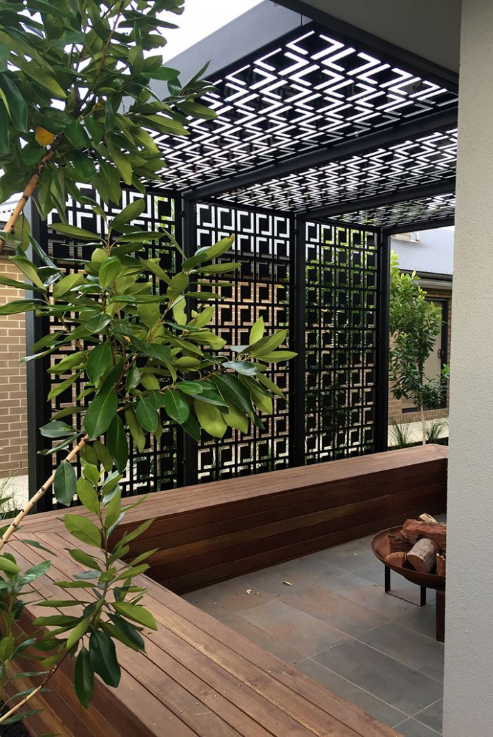Modern Metal Pergola Contemporary Gl Pergolas Carport Patio ..