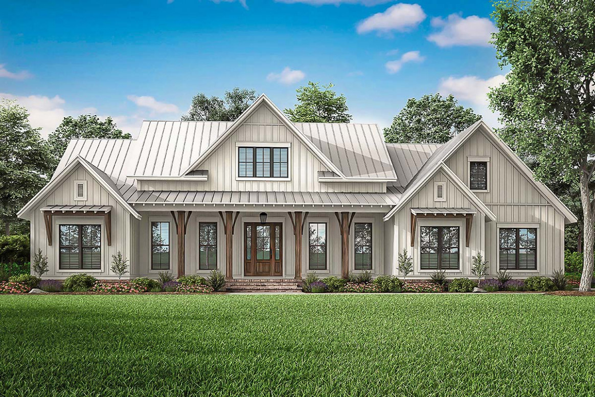 Modern Style House Plan 1113 With 113 Bed, 113 Bath, 13 Car Garage Modern House Plans With Carport