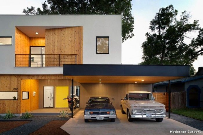 Modernes Carport Modern Haus & Fassade With Front Yard By ..
