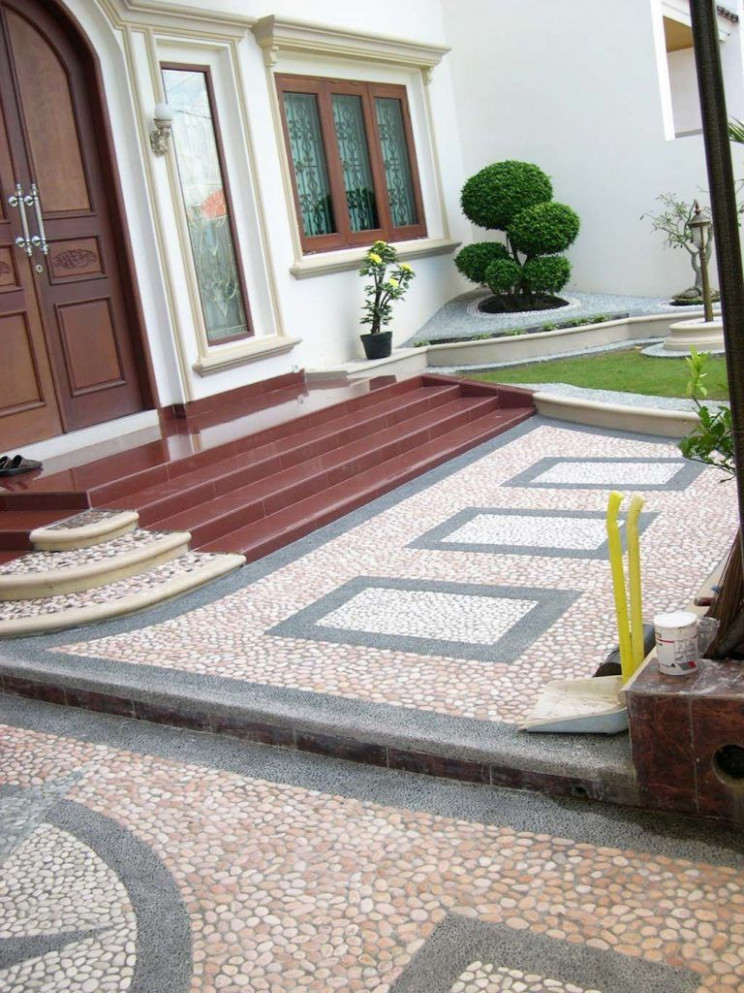 Motif Batu Sikat Untuk Carport | Floors, Pathways And ... Di ..