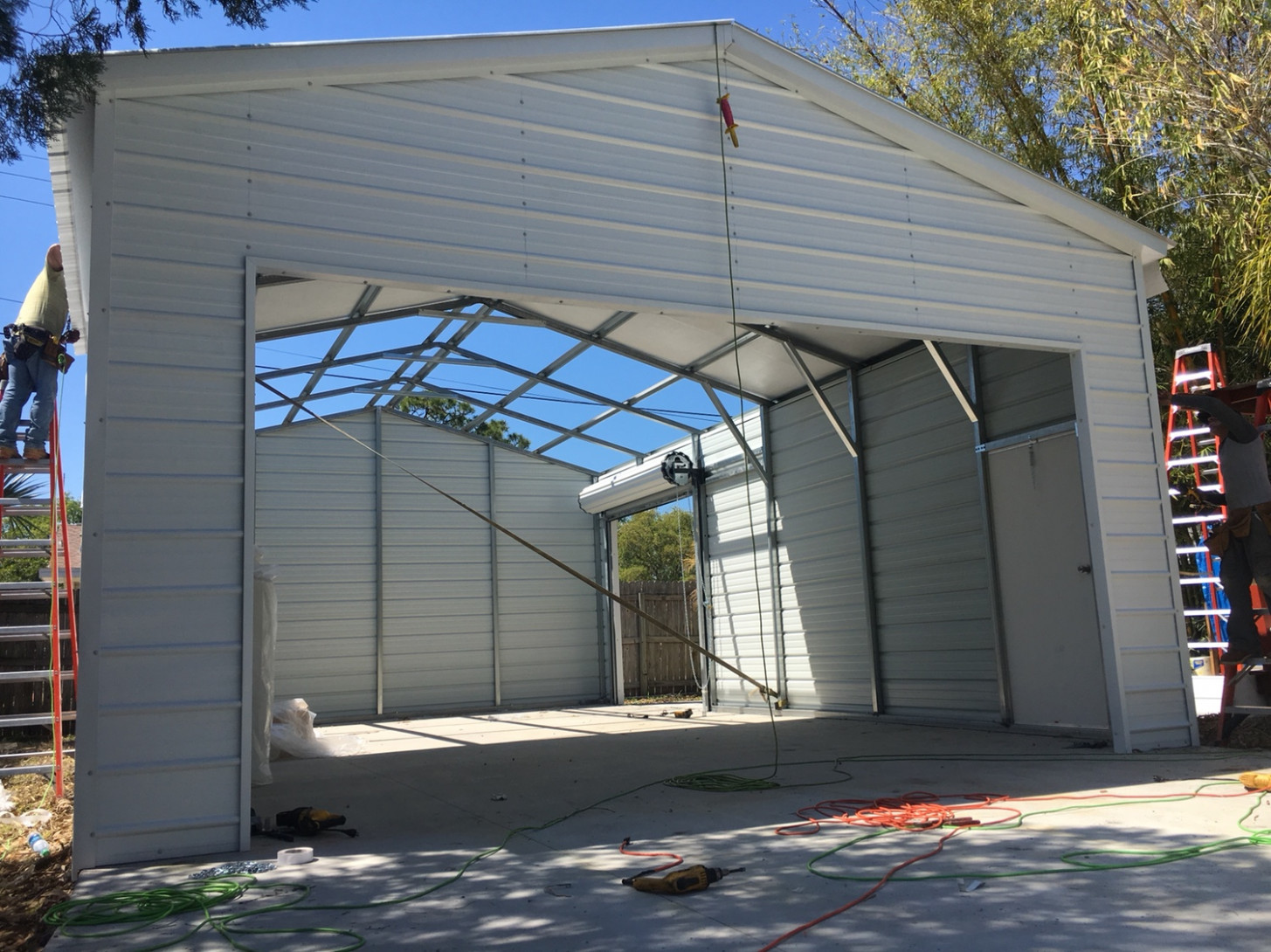 My New Metal Building The Garage Journal Board Carolina Carports Garage Door Openers