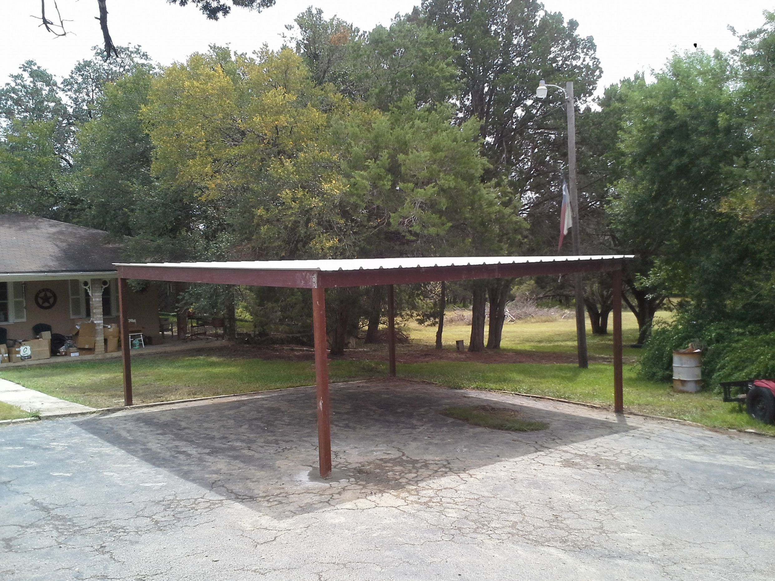 Natural Nice Brown Nuance Of The Metal Carport Plans Can Be ..