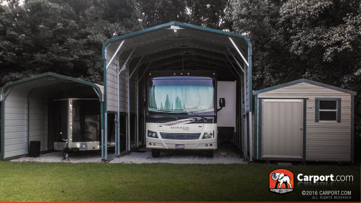New Economical RV Carports And Metal Garage Fabrication ..