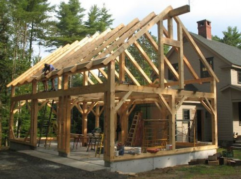 New Timber Frame Projects   Amstutz Woodworking, LLC24x36 ..