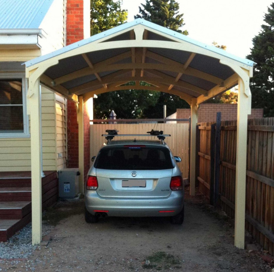 Nice Simple Design Of The Homes With Carports That Has Cream ..