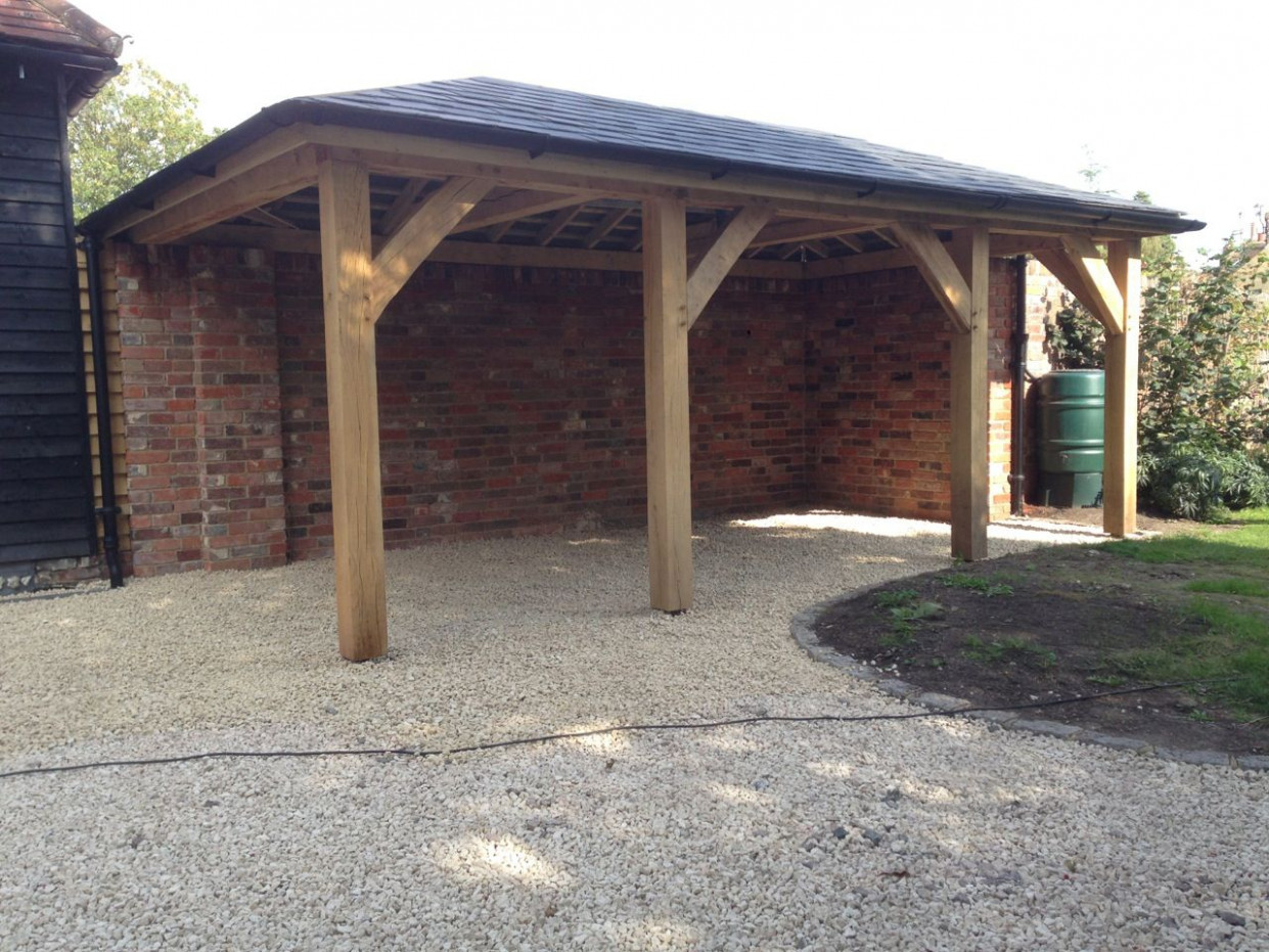 Oak car port #oak-frame-guide #oakframe #carport | sheds in ...