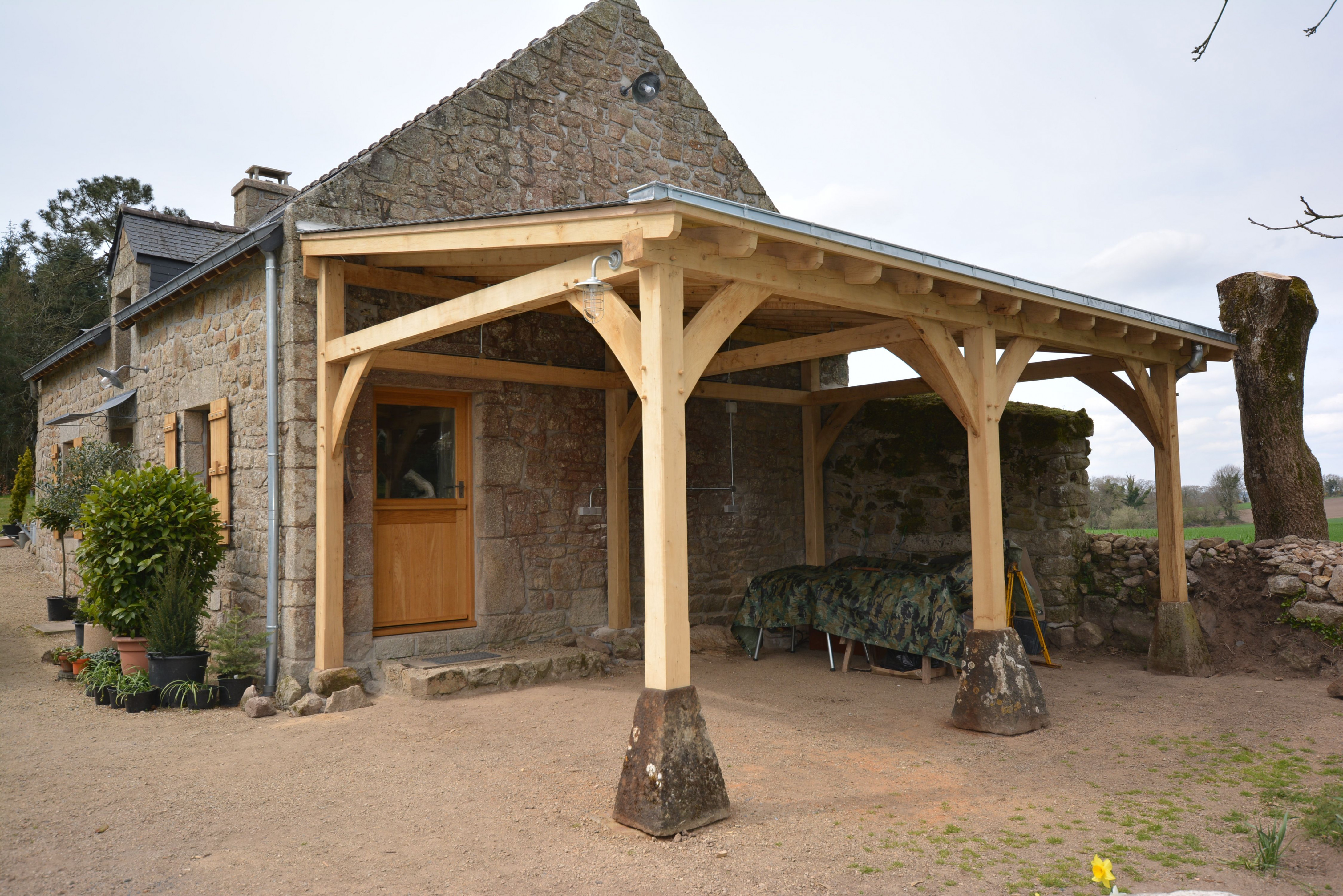 Oak Framed Car Port In Brittany | DIY Home Projects In ..