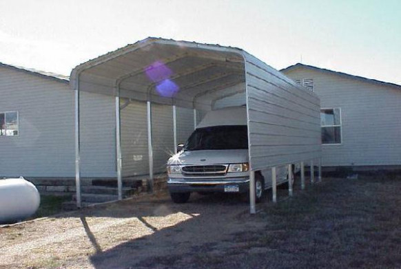 One Side RV Cover With Extra Panels Carport Garage With Storage