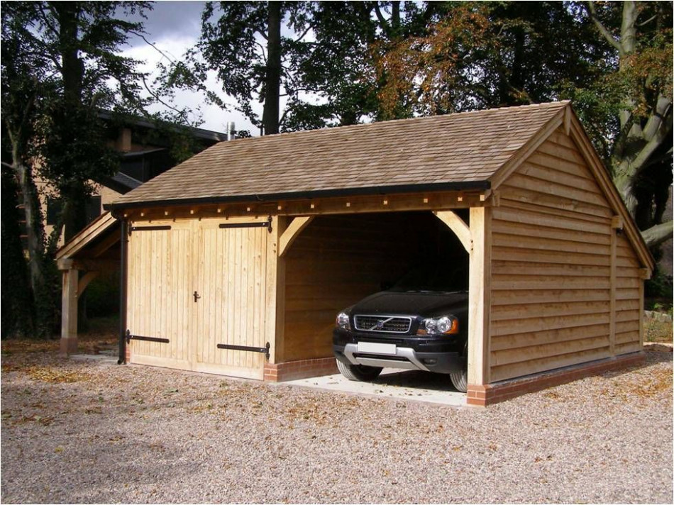 Our Garage & Log Store With One Enclosed Bay, Partition ..