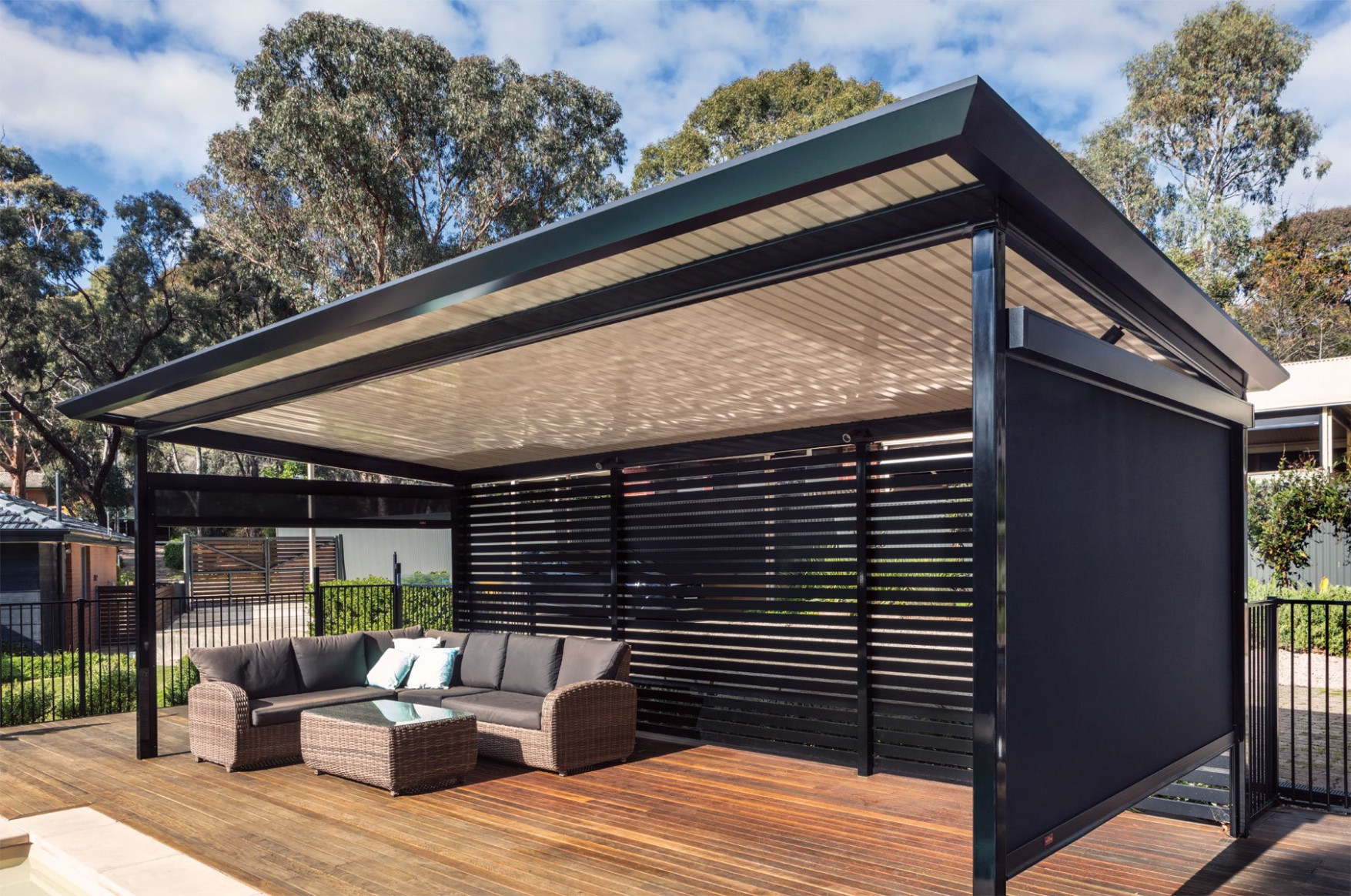Outback® Flat | Stratco Deck Above Carport Ideas