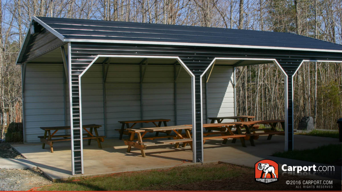 Outdoor Metal Pavilions & Picnic Shelters For Sale | Carport
