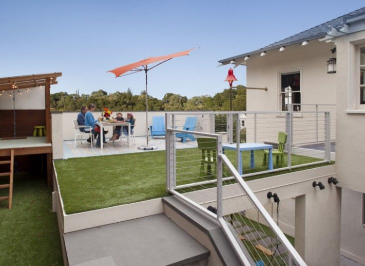 Outdoor Roof Terrace, Artifical Turf, Carport By Jeff King ..
