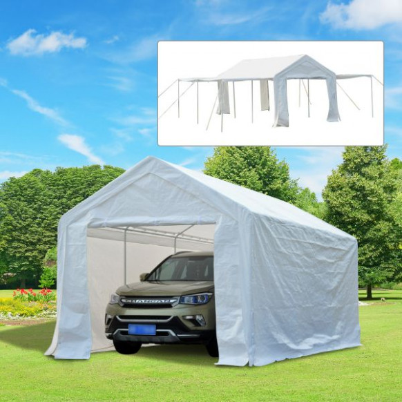 Outsunny 10' X 20' Multi Purpose Convertible Carport ..