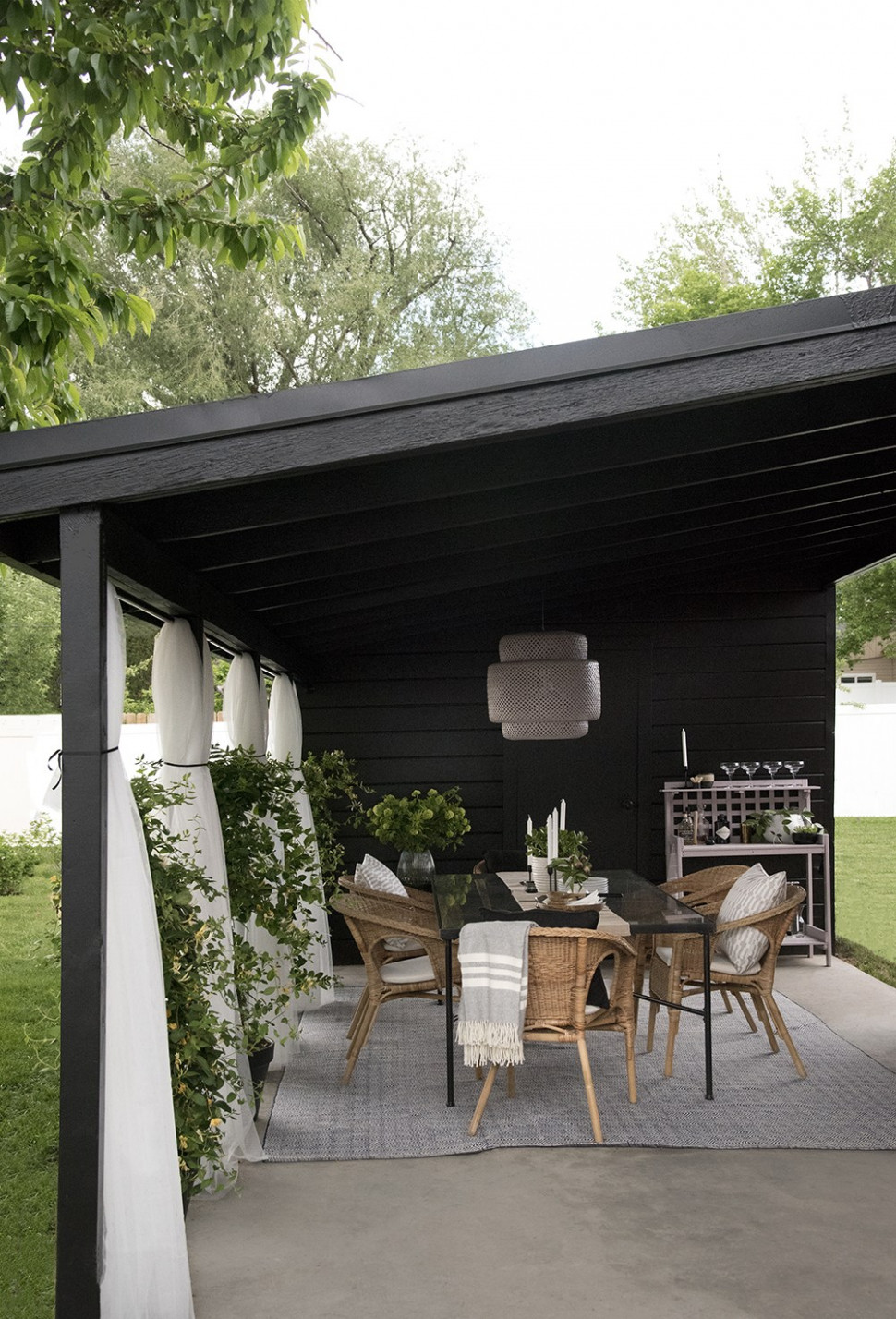 Painted Carport Makeover Room For Tuesday Blog Backyard Carport Ideas