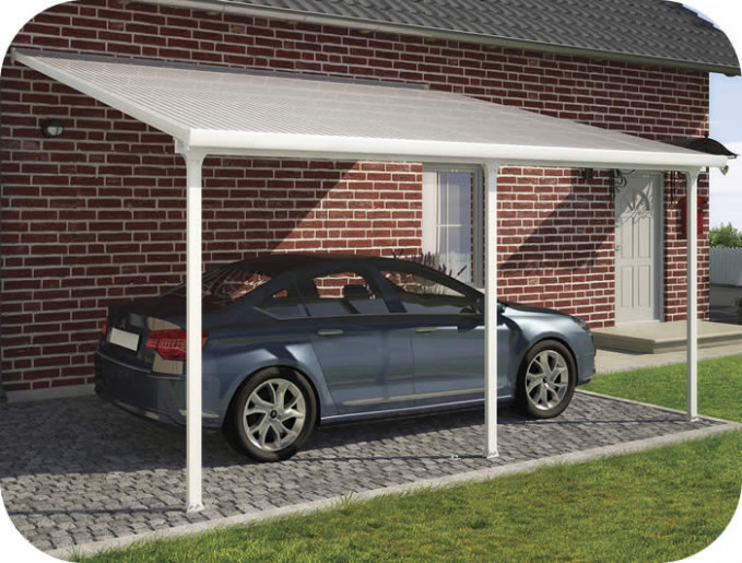 Palram 13x20 Feria Attached Metal Carport Kit (HG9140)