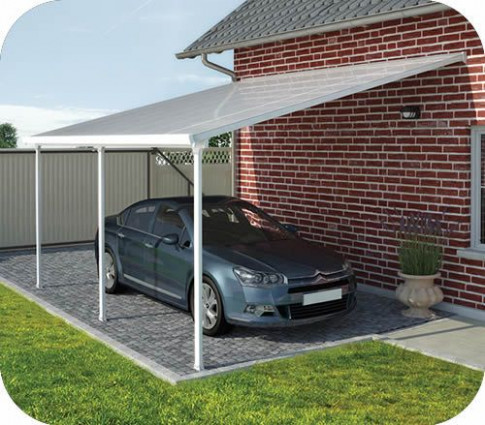 Palram 13x20 Feria Attached Metal Carport Kit [HG9140 ..