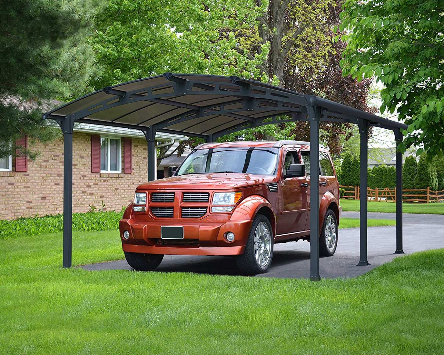 Palram Arcadia 12 Dark Grey Carport Robust Structure For Year Round Use Carport Tent Canadian Tire
