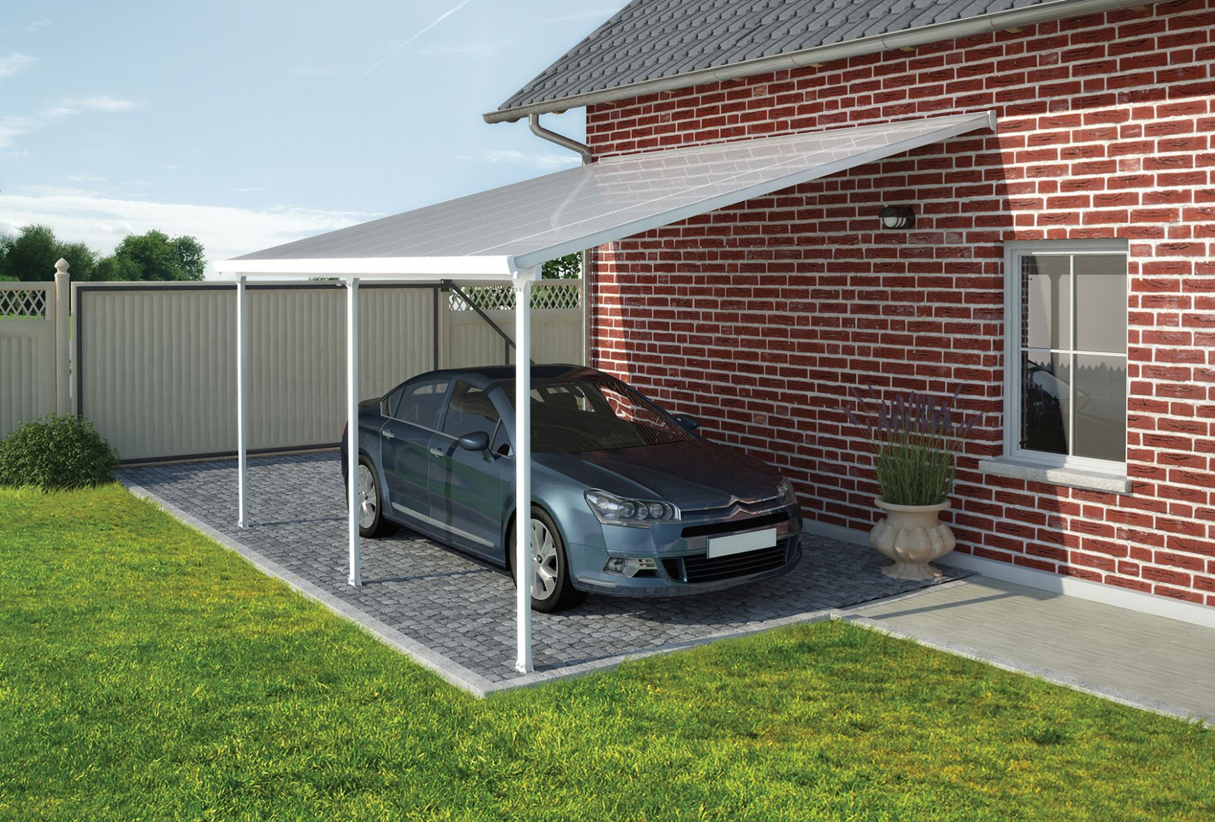 Palram Feria 3m Carport in 7 Lengths | Greenhouse Stores