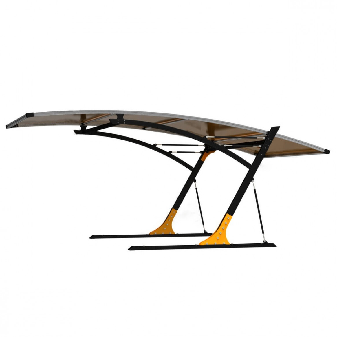 Park In Style Single/Double Arched Canopy Carport Carport Contemporary Furniture