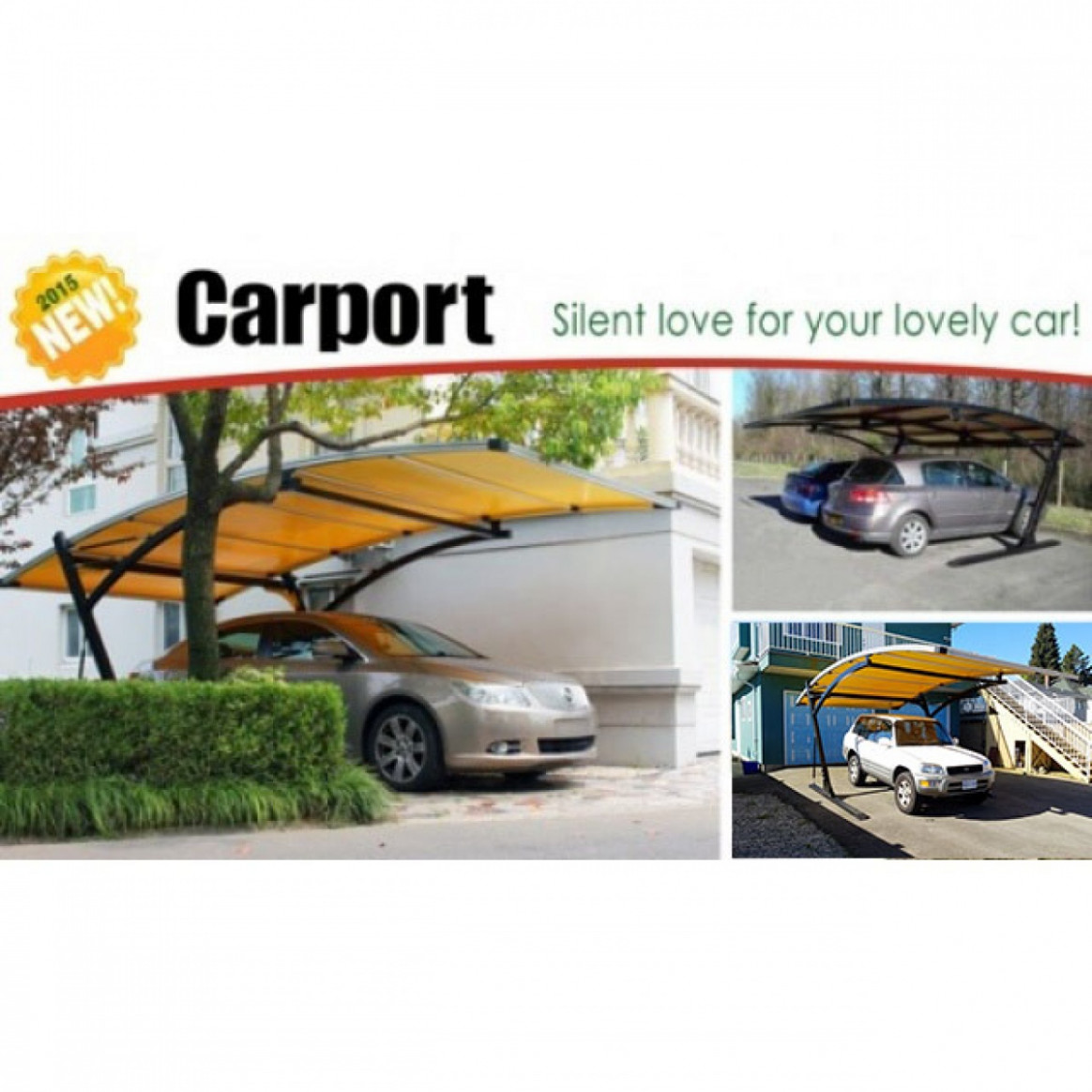 Park In Style Single/Double Arched Canopy Carport Carport Parking Price