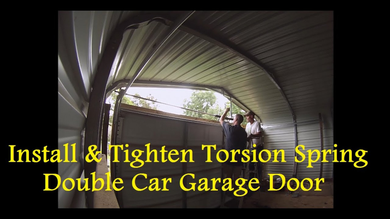 Part 8 How To Enclose A Metal Carport How To Install Torsion Spring Enclosed Carport With Garage Door