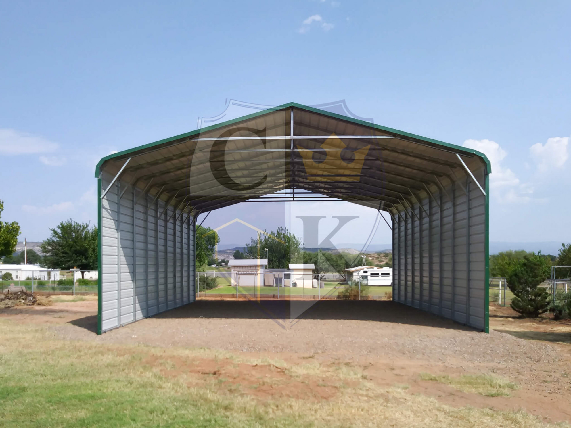 Partially Enclosed Carport American Steel Carports, Inc