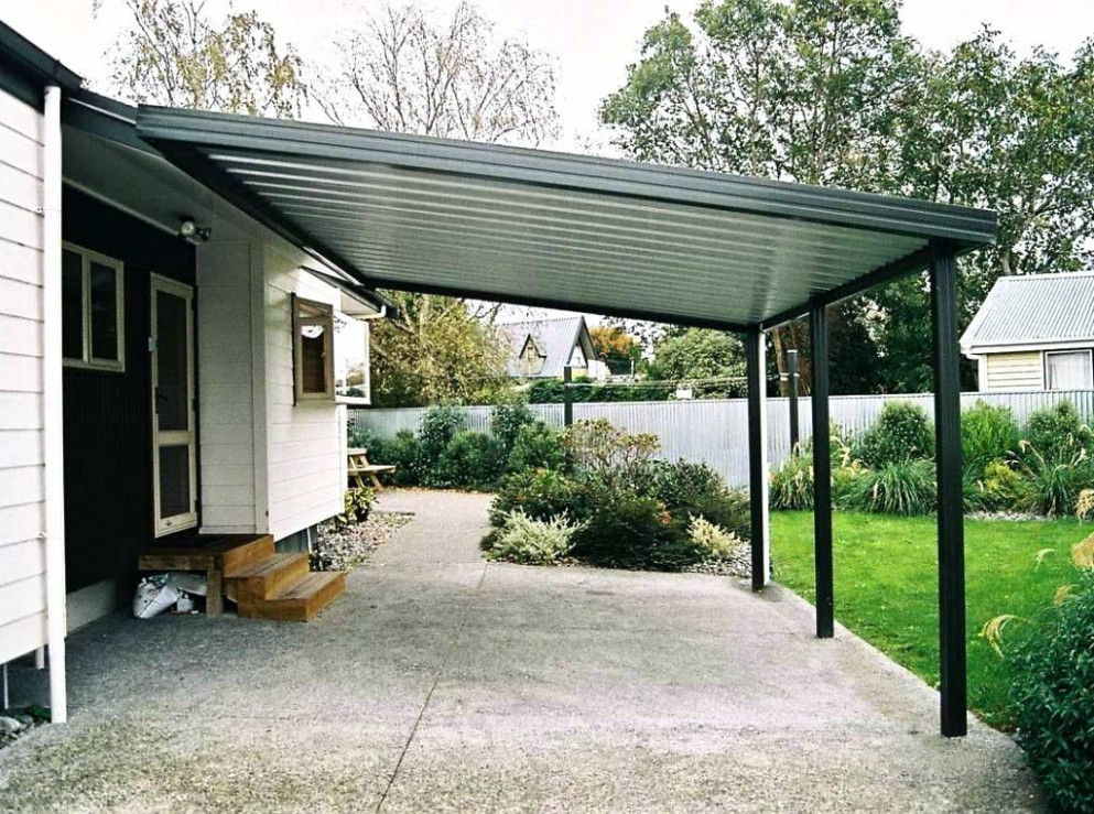Patio Covered Attached House Lean Standing Metal To Large ..