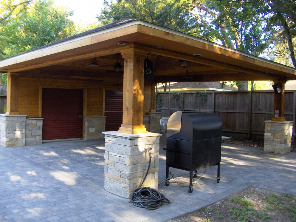 Paver Driveway With Carport And Storage 10 | Scott Ward | Flickr Carports With Roof Storage