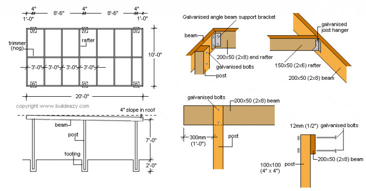 PDF Plans How To Build A Flat Roof Carport Download Full ..