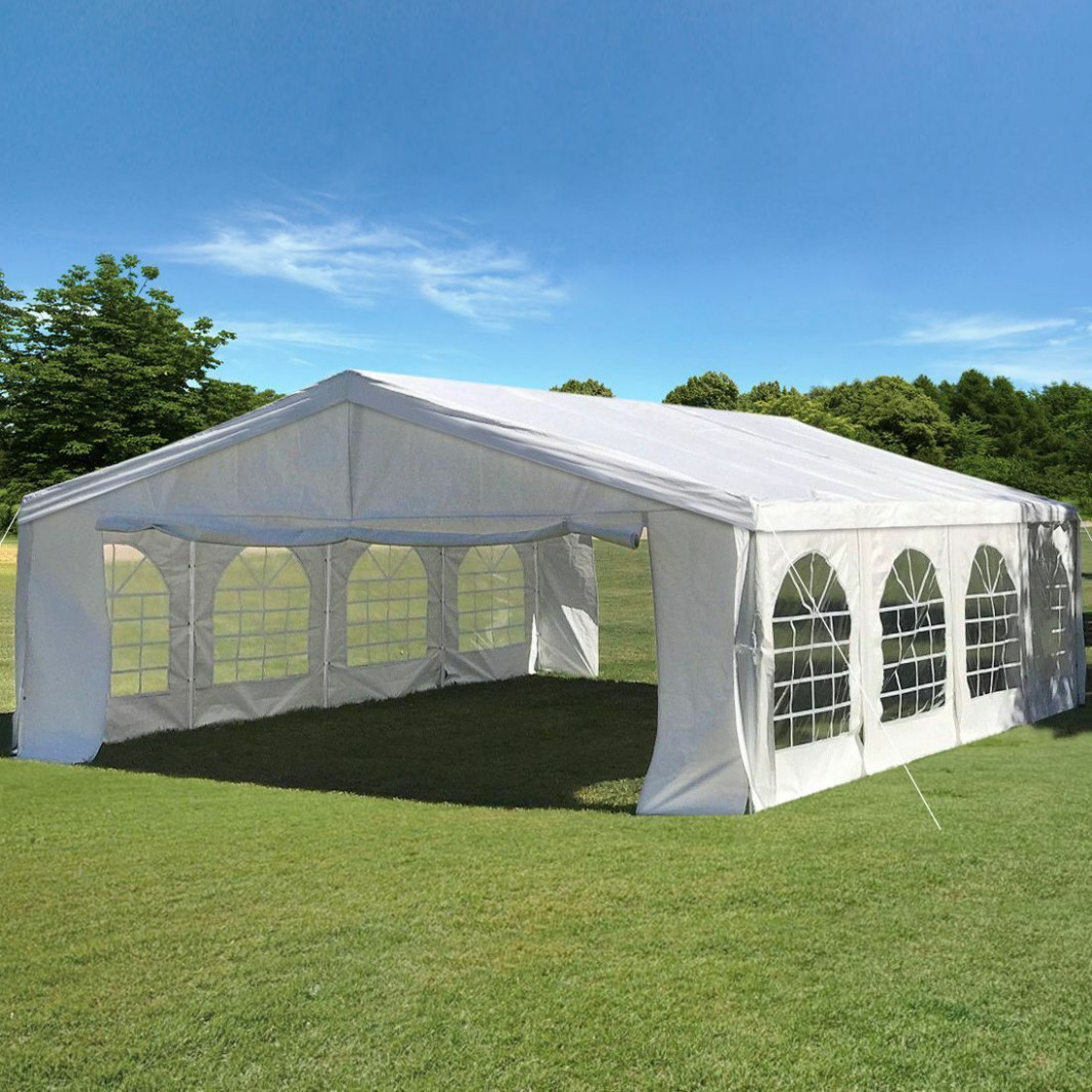 Peaktop 12'x12' Party Tent With Carry Bags Outdoor Wedding Tent Canopy Gazbo Canopy Carport Garage Partytent