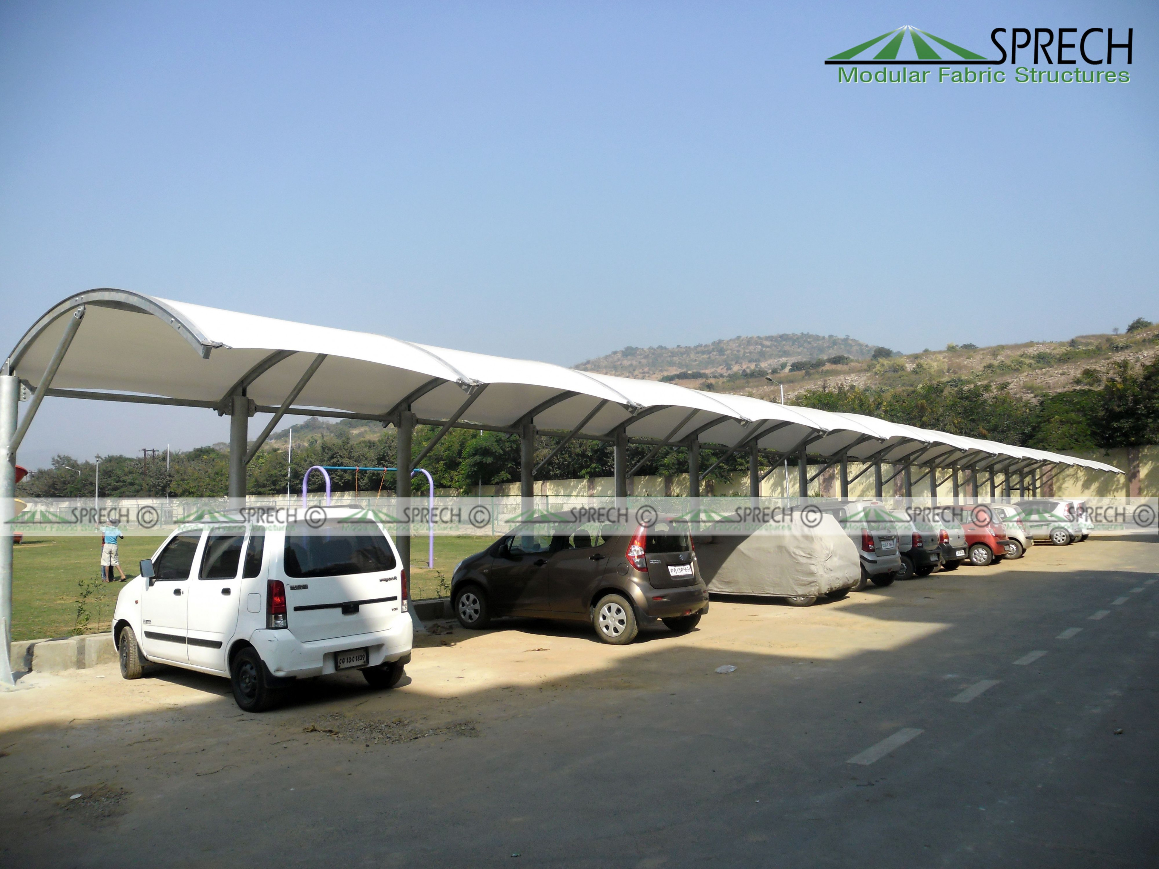 Pin By Tension Fabric Canopy On Car Parking Shed Designs ..