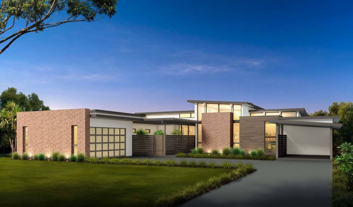 Plan 12LY: Mid Century Modern House Plan With Courtyard Mid Century Modern Home With Carport