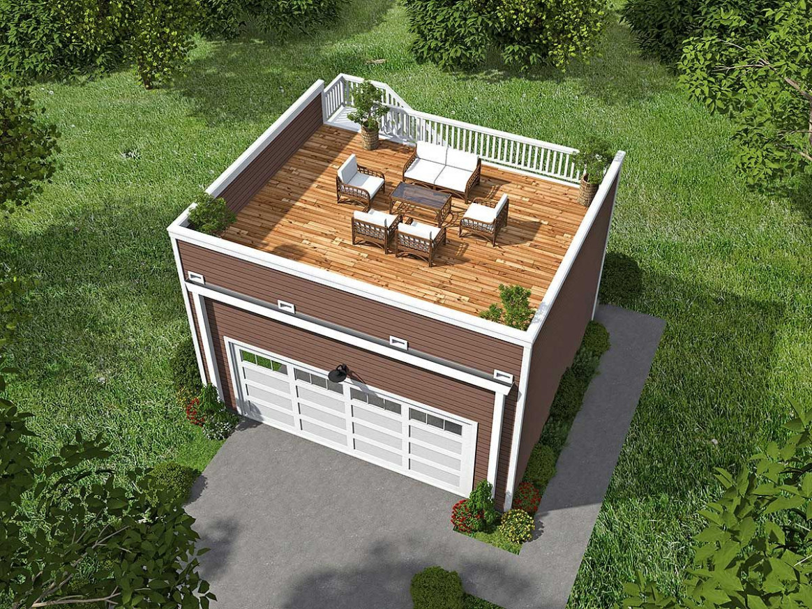 Plan 9VR: Garage With Roof Top Deck | Mandi's Board In ..