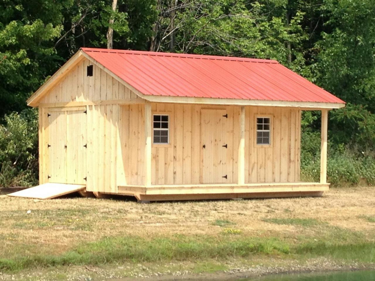 Pole Barns Built On Site X Shed With Porch Metal Roof ..