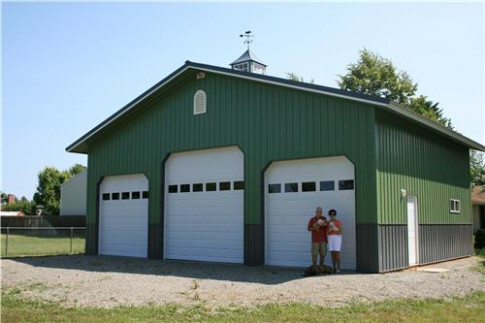Pole Building Garages | Garages And Shops Carport Built In Front Of Garage