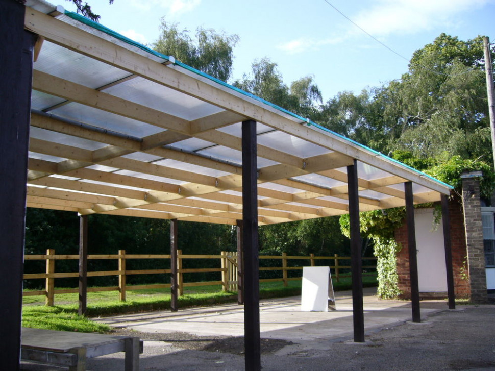 Polycarbonate 10mm Carport, Lean To Roof With Fixings ..